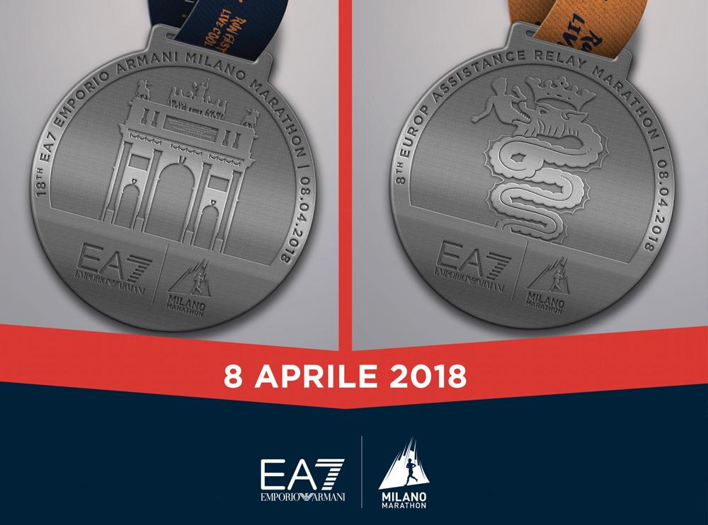 SVELATE LE MEDAGLIE DI EA7 EMPORIO ARMANI MILANO MARATHON 2018