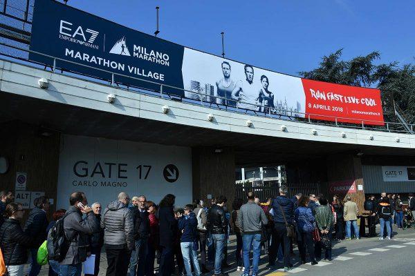 Gian Mattia D'Alberto / lapresse 06-04-2018 Milano sport Marathon Village nella foto:  il villaggio  Gian Mattia D'Alberto / lapresse 2018-04-05 Milan Marathon Village in the photo:   the village