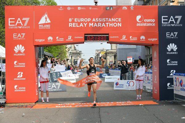 Foto  LaPresse/Gian Mattia D'Alberto08/04/2018, MilanosportMilano Marathon EA7nella foto: l'arrivoFoto  LaPresse/Gian Mattia D'AlbertoApril 08, 2018, MilanMilano Marathon EA7in the photo: arrival