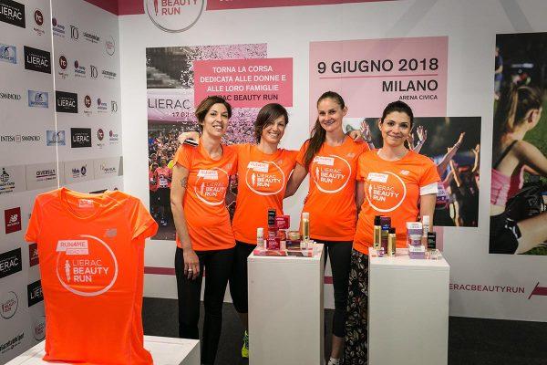 Foto LaPresse/Stefano De Grandis07/04/18 MilanoEA7 Milano MarathonVillaggio presso MiCocommercialeNella foto: Sponsor Lierac