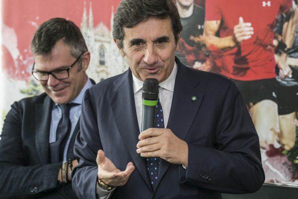 Foto Stefano De Grandis - LaPresse17-10-2018- MilanoSportConferenza stampa presentazione Generali Milano Marathonnella foto:  Urbano Cairo