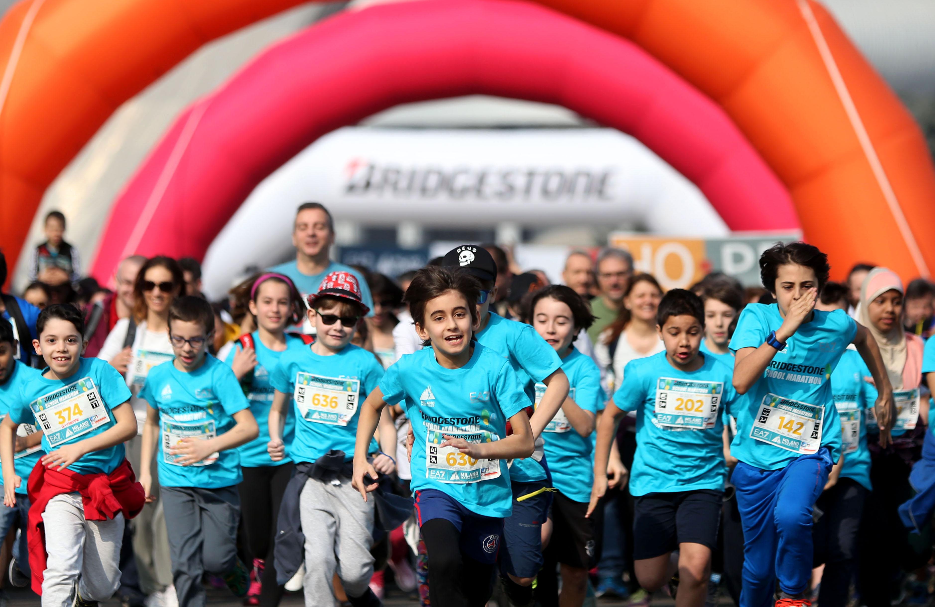 Bridgestone School Marathon, i piccoli runner tornano protagonisti, su un percorso ancora più bello