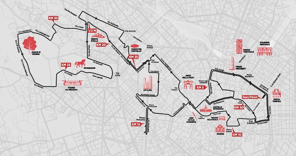 Generali Milano Marathon 2019: el recorrido oficial