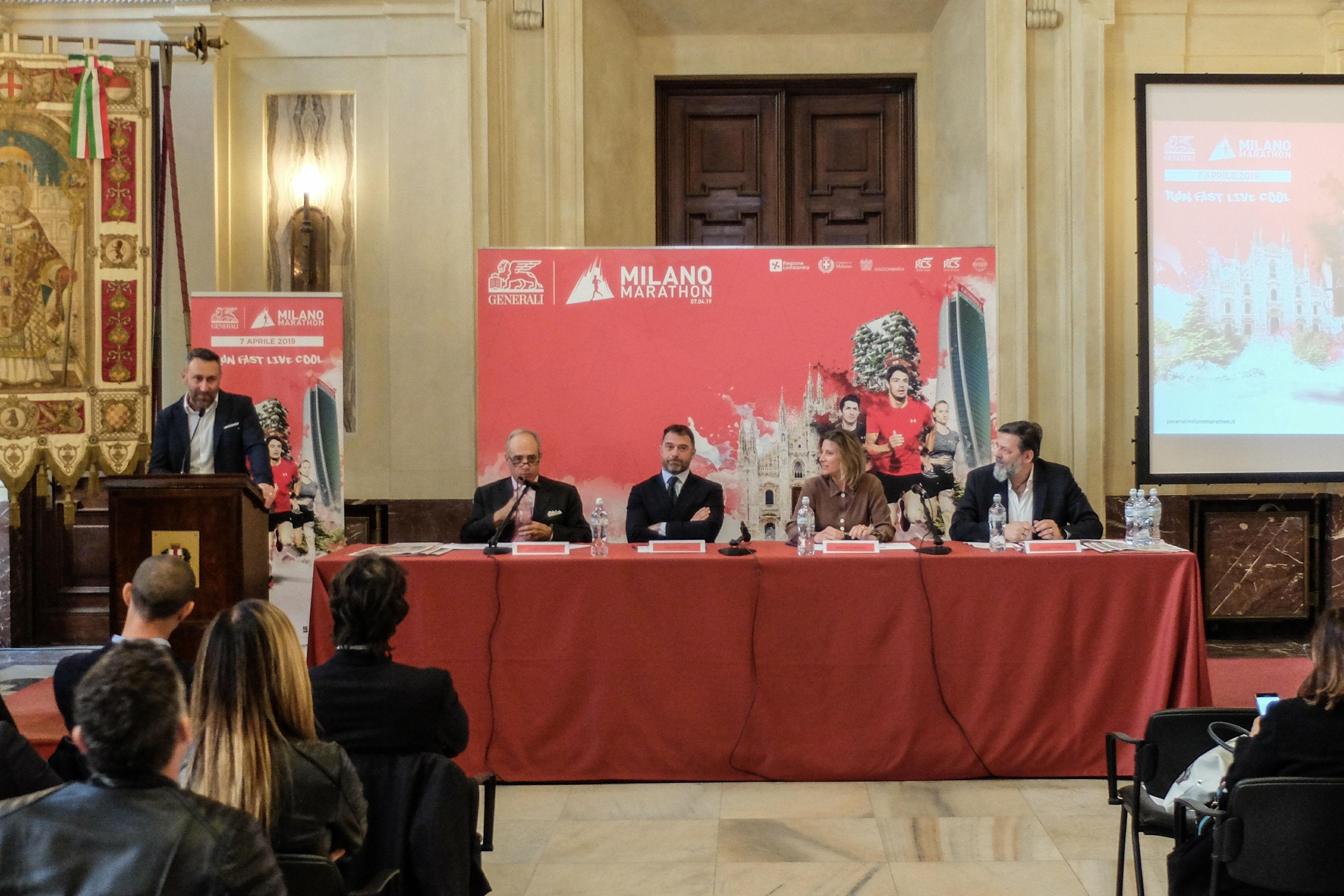 Presentada en Palazzo Marino la XIX edición del Generali Milano Marathon