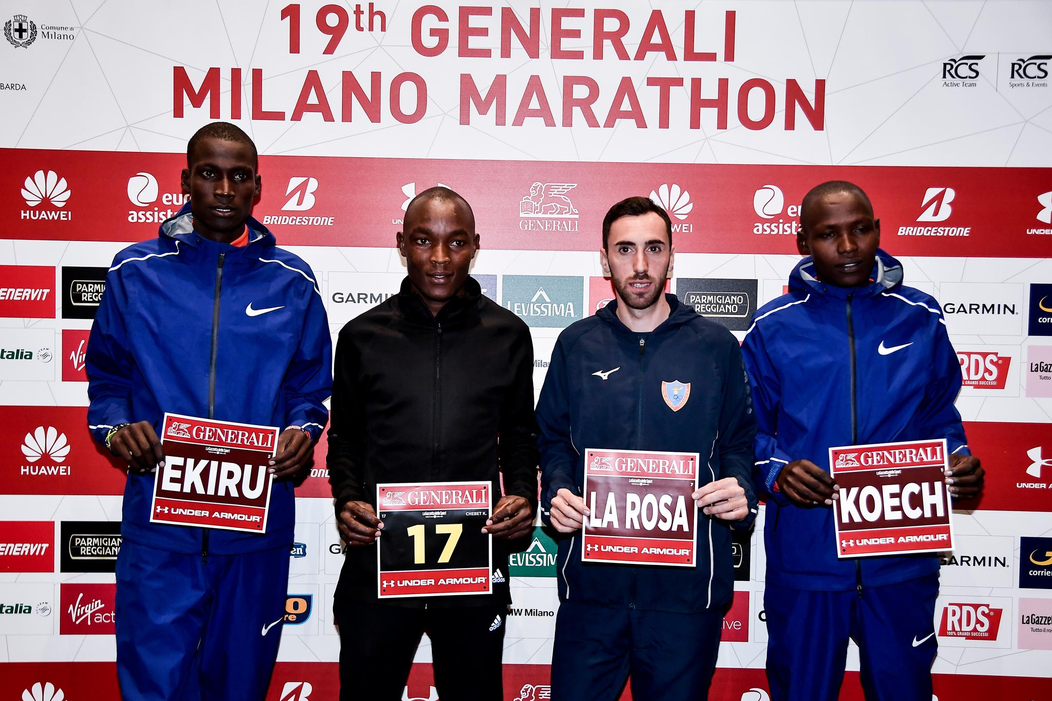 Generali Milano Marathon 2019: la lista de los mejores corredores de la 19ª edición