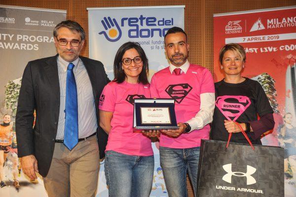 Premio Very Important Supporter Top Fundraiser di Run for Emma & Friends per Francesco Toldo